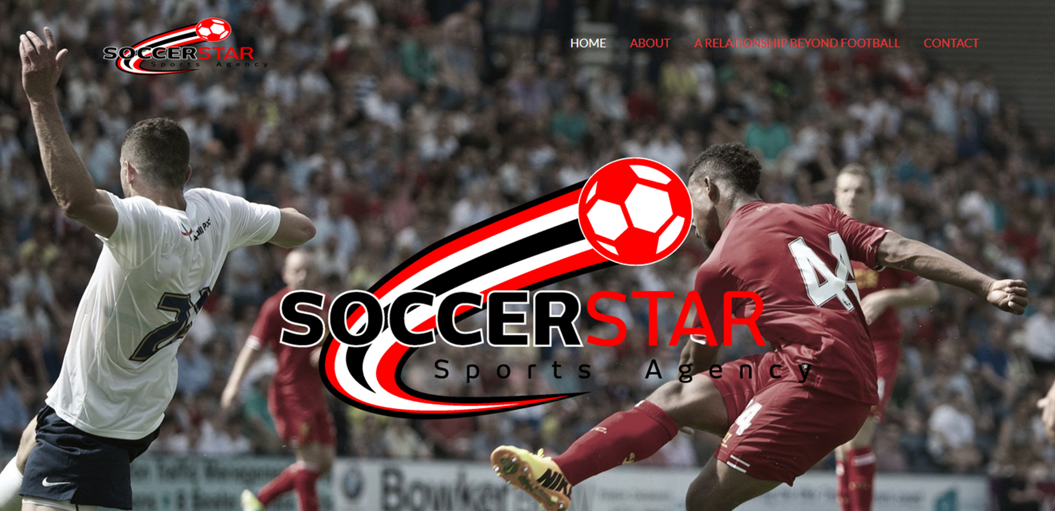 SoccerStar Home page