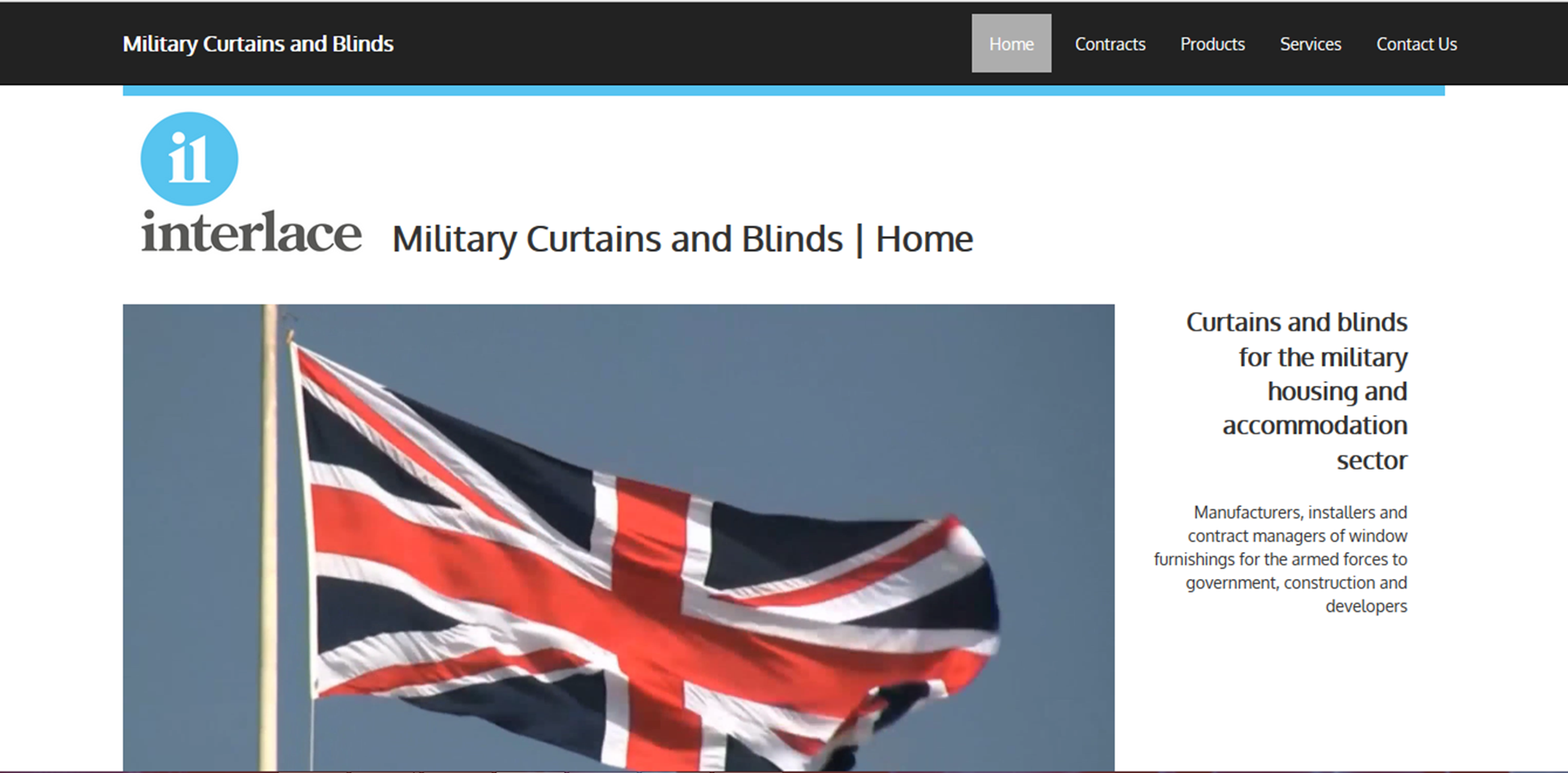 Military Curtains and Blinds Home page