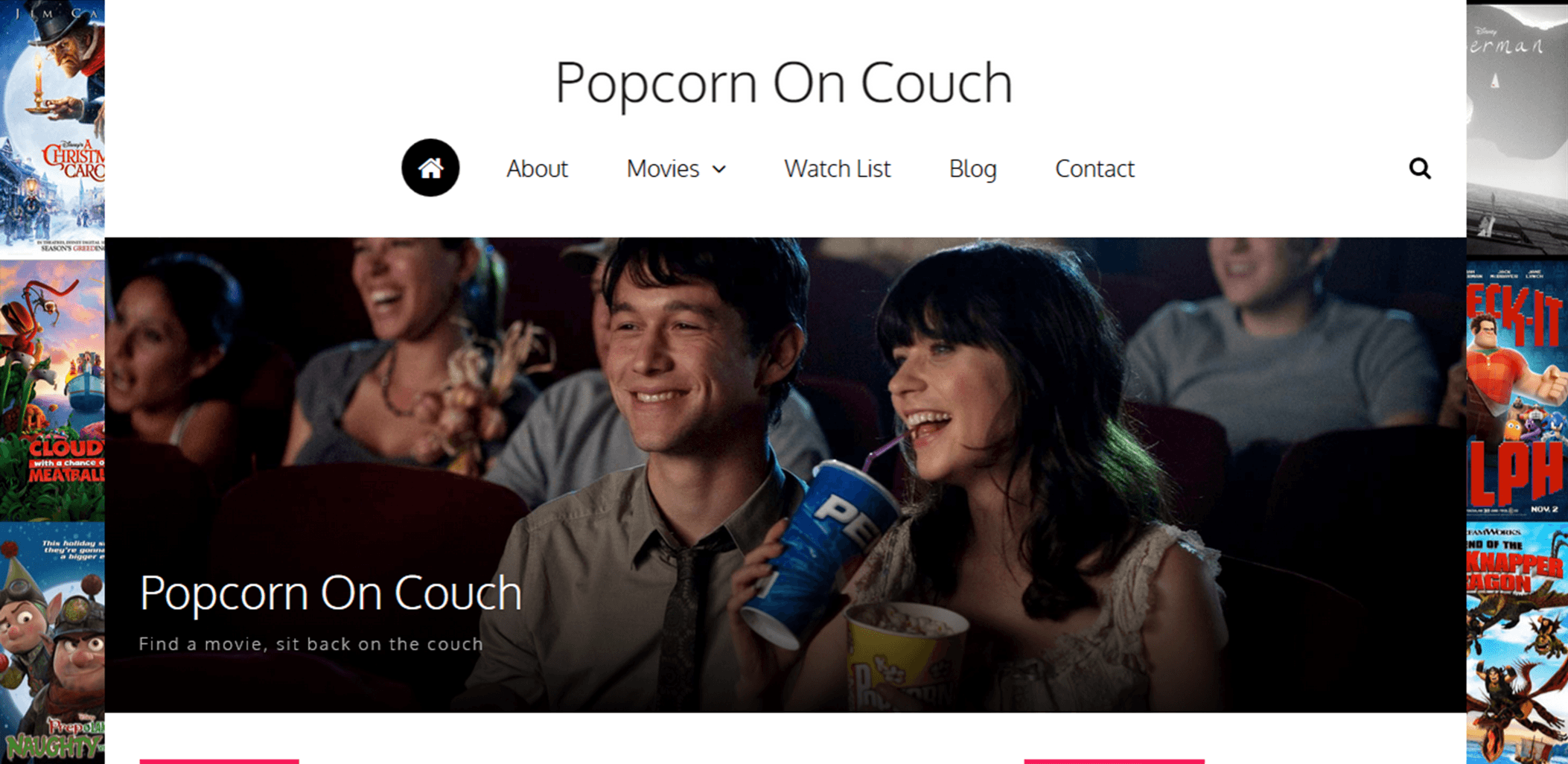 Popcorn On Couch Home page